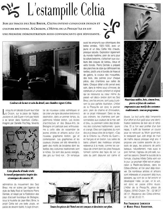 Celtia Diffusion Revue De Presse